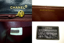 CHANEL Diana Flap Chain Shoulder Bag Crossbody Navy Quilted Lamb Q05-Chanel-hannari-shop