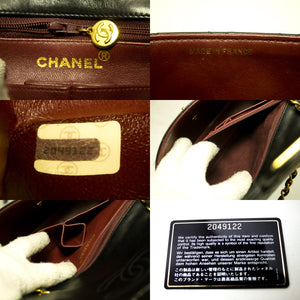CHANEL Mini Square Small Chain Bag Spalla Crossbody Black Purse R20-Chanel-hannari-shop