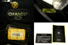 CHANEL Caviar Jumbo Large Chain Shoulder Bag Black Leather Gold g68