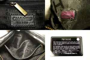 CHANEL Half Moon Lambskin Chain Shoulder Bag Black Leather Zipper n12-Chanel-hannari-shop