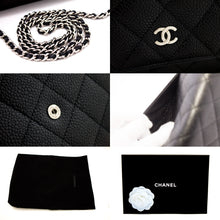 CHANEL Caviar Wallet On Chain WOC Black Shoulder Bag Crossbody u14-hannari-shop