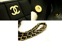 CHANEL Chocolate Bar Large Chain Shoulder Bag Black Quilted Lamb L43-Chanel-hannari-shop