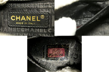 CHANEL Camellia Chocolate Bar Chain Shoulder Bag Black Quilted k47-Chanel-hannari-shop