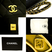CHANEL Chain Shoulder Bag Clutch Black Quilted Flap Lambskin R30-Chanel-hannari-shop