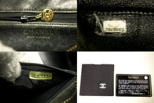 CHANEL Gold Medallion Caviar Shoulder Bag Shopping Tote Black Q35-Chanel-hannari-shop