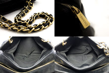 CHANEL Caviar PST Chain Shoulder Bag Shoppingveske Svart vattert u57 hannari-shop