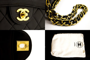 CHANEL Classic Chain Shoulder Bag Black Quilted Flap Lambskin s74-hannari-shop