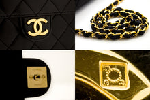 CHANEL Small Chain Shoulder Bag Clutch Black Quilted Flap Lambskin u18-hannari-shop