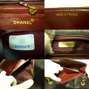 CHANEL Diana Flap Chain Shoulder Bag Crossbody Black Quilted Lamb p08-Chanel-hannari-shop