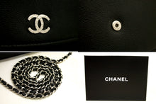 CHANEL Caviar Wallet On Chain WOC Black Shoulder Bag Crossbody k04