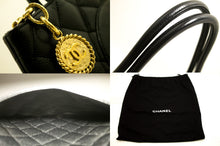CHANEL Caviar Medallion Gold Hw Shoulder Bag Black Leather Quilted L17-Chanel-hannari-shop