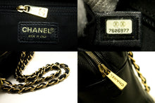 CHANEL Caviar Chain Shoulder Bag Shopping Tote Black Quilted Q94
