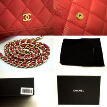 CHANEL Caviar Wallet On Chain WOC Pink Shoulder Bag Crossbody n06
