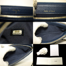 CHANEL Caviar Navy Wallet On Chain WOC W Zip Chain Shoulder Bag p14