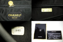 CHANEL Caviar Quilted Chain Shoulder Bag Black Leather Gold Zipper Q79-Chanel-hannari-shop