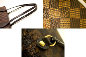 Louis Vuitton Damier Ebene Neverfull MM Shoulder Bag Canvas k75-Louis Vuitton-hannari-shop