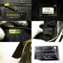 CHANEL Caviar Chain One Shoulder Bag Black Quilted Leather Zipper Q22
