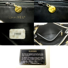 CHANEL Caviar Large Chain Shoulder Bag Black Leather Gold Hardware p46