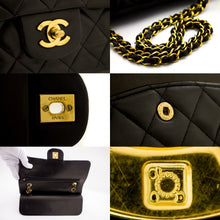 "CHANEL 2.55 Double Flap 10 ""Chain Shoulder Bag Black Lambskin t90-hannari-shop"