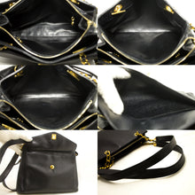 CHANEL Caviar Large Chain Shoulder Bag Black Leather Gold Hardware p46-Chanel-hannari-shop