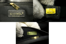 CHANEL Executive Tote Caviar Shoulder Bag Handbag Black Gold Q77-Chanel-hannari-shop