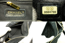 CHANEL Caviar Chain One Shoulder Bag Black Quilted Leather Zipper Q84-Chanel-hannari-shop