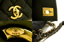 CHANEL Paris Bombay 2way Chain Shoulder Bag Handbag Black Quilted R89-Shoulder Bag-hannari-shop