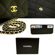 CHANEL NEVER USED Caviar Wallet On Chain WOC Black Shoulder Bag m70