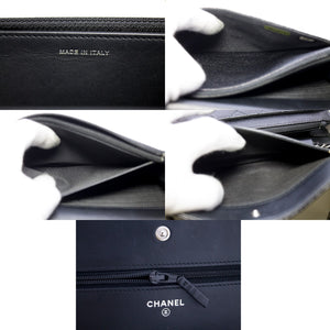 CHANEL Boy Boy Caviar Black Wallet Chain WOC تي ڇاپڻ وارو پيچرو ٽڪس اينيمڪس