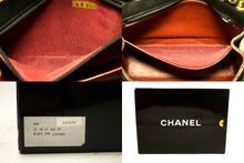 CHANEL Half Moon Single Flap Chain Shoulder Bag Black Quilted Lamb n21-Chanel-hannari-shop