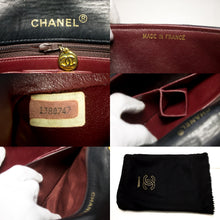 CHANEL Borsa a spalla a catena Crossbody Black Flap Quilted Lambskin s38-hannari-shop