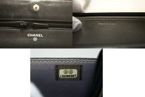 CHANEL Black Camellia Embossed Wallet On Chain WOC Shoulder Bag R75-essenger & Cross Body Shoulder Bag-hannari-shop
