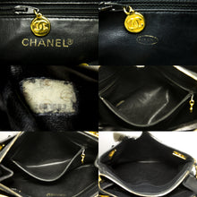 CHANEL Caviar Large Chain Shoulder Bag Black Leather Gold Zipper L75-Chanel-hannari-shop