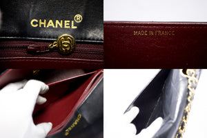 CHANEL Classic Chain Shoulder Bag Black Quilted Flap Lambskin x09 hannari-shop