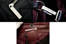 CHANEL Coco Cocoon Nylon Stoffveske Veske Black Bordeaux Leather u52 hannari-shop