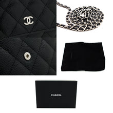 CHANEL Caviar Wallet On Chain WOC Black Shoulder Bag Crossbody t65