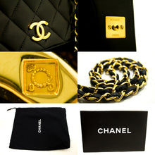 CHANEL Chain Shoulder Bag Clutch Black Quilted Flap Lambskin L85-Chanel-hannari-shop