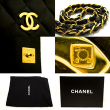 CHANEL Chain Shoulder Bag Clutch Black Quilted Flap Lambskin Purse p78-Chanel-hannari-shop