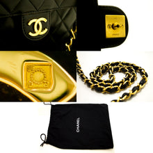 CHANEL Chain Shoulder Bag Clutch Black Quilted Flap Lambskin L71-Chanel-hannari-shop