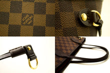 Louis Vuitton Damier Ebene Neverfull PM Shoulder Bag Canvas Tote n59