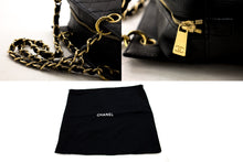 CHANEL Caviar Chain Shoulder Bag Shopping Tote Black Quilted c07 hannari-shop