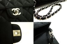 CHANEL Caviar Chain Shoulder Bag Black Quilted Single Flap Leather R67-Shoulder Bag-hannari-shop