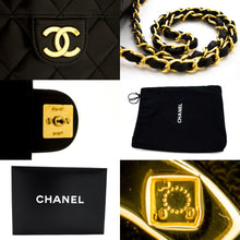 CHANEL Shoulder Bag ჩანთა Clutch შავი Quilted Flap Lambskin ჩანთა t18
