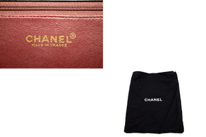 CHANEL Small Chain Shoulder Bag Clutch Black Quilted Flap Lambskin b17 hannari-shop