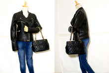 CHANEL Caviar Chain Shoulder Bag Shopping Tote Black Quilted n56