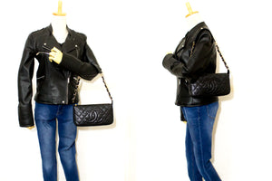 CHANEL Caviar Mini Small Chain One Shoulder Bag Black Quilted n71-Chanel-hannari-shop