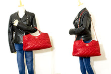 CHANEL Red 2 Way Shoulder Bag Handbag Large Calfskin Leather p13
