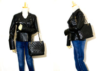 CHANEL Caviar Chain Shoulder Bag Shopping Tote Black Quilted L65