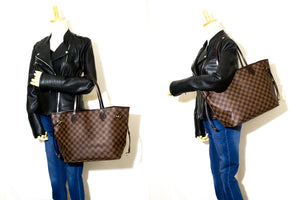 Louis Vuitton Damier Ebene Ποτέ μη γεμάτο τσάντα ώμου MM Canvas k40-Louis Vuitton-hannari-shop