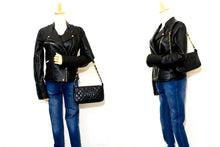 CHANEL Caviar Mini Small Chain One Shoulder Bag Black Quilted p71